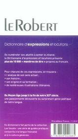 Expressions Et Locutions - 4ème de couverture - Format classique