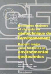 Exemples majeurs geotechnique - Couverture - Format classique