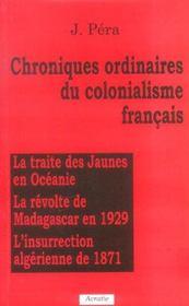 Chroniques ordinaires du colonialisme francais - Intérieur - Format classique