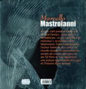 Marcello mastroianni le jeu plaisant du cinema - 4ème de couverture - Format classique