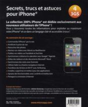 Secrets, trucs et astuces pour iPhone 3GS/4 - 4ème de couverture - Format classique