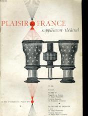 Plaisir De France Supplement Theatral N°230 - Couverture - Format classique