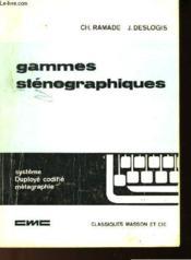 Gammes Stenographiques Commerciales Et Administratives - Couverture - Format classique