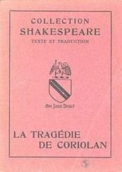 Tragedie De Coriolan - Couverture - Format classique