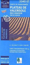 Plateau de Valensole ; Riez ; Oraison ; PNR du Verdon ; 3342 ET - Couverture - Format classique