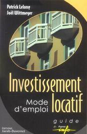 Investissement Locatif Mode D'Emploi - Intérieur - Format classique