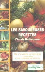 Les savoureuses recettes d'anais dufourneau - Intérieur - Format classique