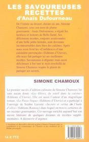 Les savoureuses recettes d'anais dufourneau - 4ème de couverture - Format classique