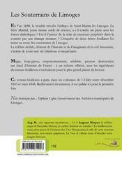 Les souterrains de Limoges - 4ème de couverture - Format classique