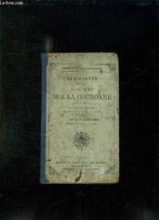 Demosthene. Discours Sur La Couronne. Texte En Grec. - Couverture - Format classique