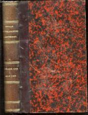 Annales De Philosophie Chretienne : Tome 1 (145 Eme De La Collection) : Octobre 1902-Mars1903 - Revue Mensuelle. Troisieme Serie. - Couverture - Format classique