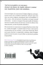 Vade retro satanas et 99 autres expressions religieuses - 4ème de couverture - Format classique