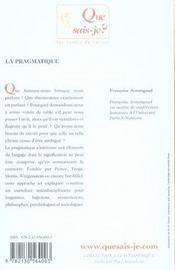 La pragmatique (5e édition) - 4ème de couverture - Format classique