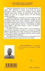 Les dessous de la guerre du Congo-Brazzaville - 4ème de couverture - Format classique