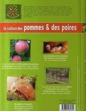 La culture des pommiers et des poiriers - 4ème de couverture - Format classique