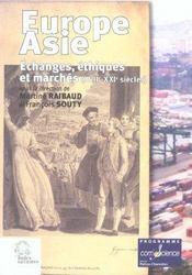 Europe-asie actes des colloques, la rochelle, [les] 13 decembre 1999 et 11-12 decembre 2000 - Intérieur - Format classique
