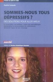 Sommes-nous tous depressifs ? - Intérieur - Format classique