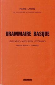 Grammaire basque - Couverture - Format classique