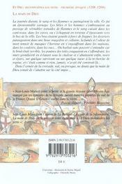 La Main De Dieu ; 1e Epoque - 4ème de couverture - Format classique