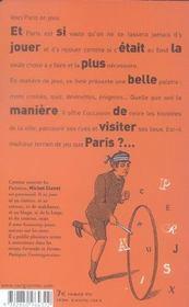 Paris en jeux - 4ème de couverture - Format classique