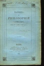 Elémens de Philosophie Catholique. - Couverture - Format classique