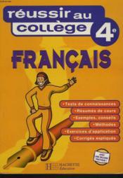 Reussir Au College En Francais 4e - Couverture - Format classique