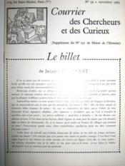 Courrier des Chercheurs et des Curieux. (Supplément du N° 191 de