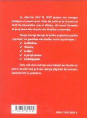 Principaux Contrats Civils Et Commerciaux - 4ème de couverture - Format classique