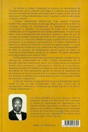 De La Dependance A L'Interdependance ; Mondialisation Et Marginalisation ; Une Chance Pour L'Afrique ? - 4ème de couverture - Format classique