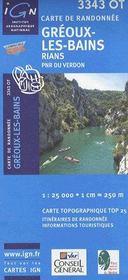 Greoux les bains ; Rians ; PNR du Verdon ; 3343 OT - Couverture - Format classique