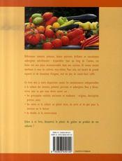 Tomates, poivrons et aubergines - 4ème de couverture - Format classique