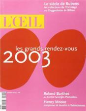 L'Oeil 543 (Janvier 2003) - Couverture - Format classique