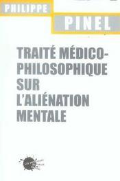 Traite Medico-Philosophique Sur L'Alienation Mentale - Intérieur - Format classique