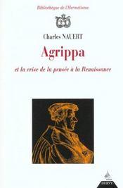 Agrippa et la crise de la pensee a la renaissance - Intérieur - Format classique