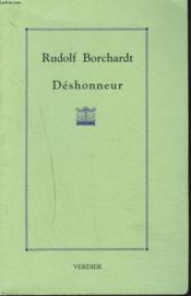 Deshonneur - Couverture - Format classique
