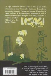 Usagi yojimbo t.3 - 4ème de couverture - Format classique
