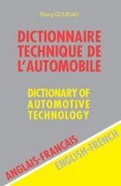 Dictionnaire technique de l'automobile ; anglais-franÇais - Intérieur - Format classique