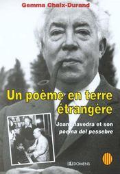 Un Poeme En Terre Etrangere ; Joan Alevedra Et Son Poema Del Pessebre - Intérieur - Format classique