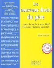 Les Nouveaux Droits Du Père Après La Loi Du 4 Mars 2002 Réformant L'Autorité Parentale - Intérieur - Format classique