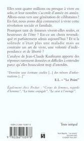 La Femme Seule Et Le Prince Charmant - 4ème de couverture - Format classique