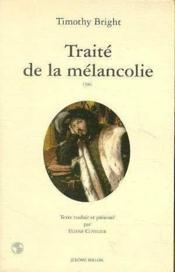 Traite De La Melancolie - Couverture - Format classique