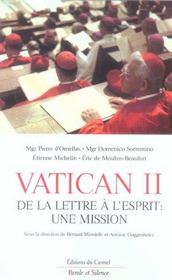 Vatican ii de l esprit a la lettre - Intérieur - Format classique