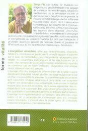 Énergétique alimentaire - 4ème de couverture - Format classique