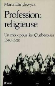 Profession Religieuse - Couverture - Format classique