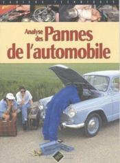Analyse des pannes de l'automobile - Couverture - Format classique