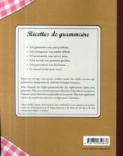 Recettes de grammaire ; conseils de grand-mère - 4ème de couverture - Format classique