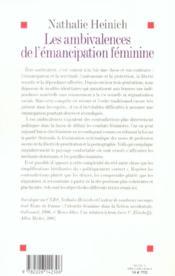 Les ambivalences de l'émancipation féminine - 4ème de couverture - Format classique