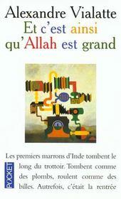 Et C'Est Ainsi Qu'Allah Est Grand - Intérieur - Format classique