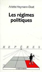 Les regimes politiques - Couverture - Format classique