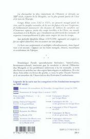 De gengis khan a qoubilai khan ; la grande chevauchee mongole (2e edition) - 4ème de couverture - Format classique